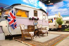 German Hostel With Fake Campsite Uses Tiny Mobile Homes as Guest Rooms: A Vintage Caravan Inspired by a Princess