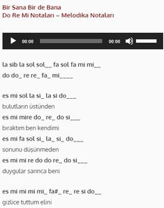 Bir Sana Bir de Bana - Do Re Mi #doremi #nota #melodika #org Do Re Mi, Note