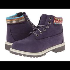 eae9bf11da98 ️Brand new girls timberlands Size 11 in GIRLS. Purple multi-sweater around  top for comfort.