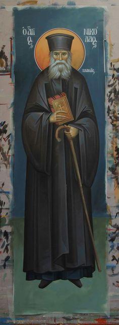 Αγ.Νικολαος Ο Πλανας (1851 - 1932)___march 2 Byzantine Icons, Saint Nicholas, Orthodox Icons, Saints, Holy Spirit, Religion, Culture, Superhero, Art