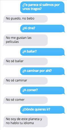 15 mensajes de texto de personas que odian coquetear o ser románticos