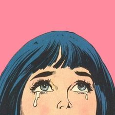 'Side Cry Why Black hair retro girl with pink background ! retro girl vintage girl romance comic romance comic girl crying woman' by HouseOfBissy Cartoon Girl Crying, Pop Art Girl Crying, Crying Girl Drawing, Girl Cartoon, Vintage Pop Art, Vintage Art Prints, Retro Art, Bd Pop Art, Dibujos Pin Up
