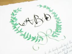 Quilled Floral and Calligraphy Ketubah by Ann Martin & Tara Jones | Calligraphy: Tara Jones | Quilling + Photo: Ann Martin