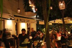 macao cafe, Ibiza. Italian restaurant with great atmosphere and real pizza St. Gertrudis