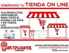 Ofrecemos asesoramiento profesional para el desarrollo de Tiendas On line para la comercialización de distintos productos y servicios, tanto digitales como físicos.  + info: http://www.artdigiweb.com.ar