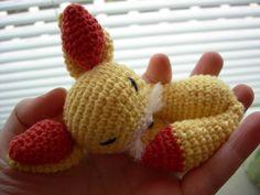 Fennekin pokemon crochet amigurumi by Poolvos.deviantart.com on @deviantART