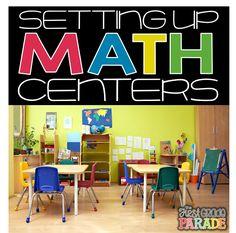 Math Center Set-Up & Organization