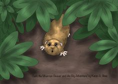 Illustration from the book, Clark the Mountain Beaver and His Big Adventure!