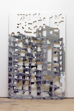 Nick van Woert: Out of Order, Vinyl print and plywood 48 x 74 x 1 inches 2010