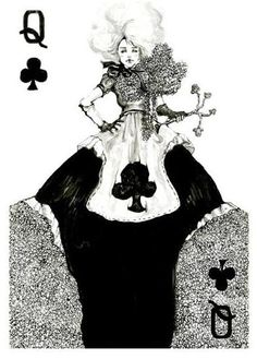 Gothic fashion cards series by Connie Lim