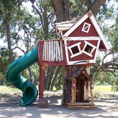 Tims Turbo Tree House from PoshTots. How fun would this be for the sweetest little boy??