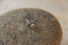Rose bud knot minimalist sterling silver or by Keepandcherish, $15.99