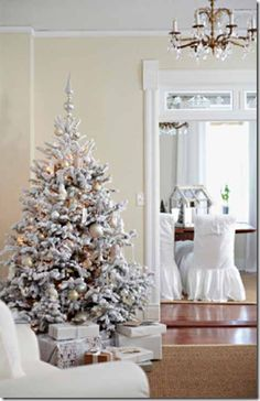 White Christmas at Peeking Thru The Sunflowers featured in BHG Christmas Decorating Ideas