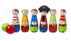 Set of 6 Childrens Traditional Handcradted Wooden Pirate Skittles by Orange Tree Toys Toys For Tots, Toys For Girls, Toddler Toys, Kids Toys, Children's Toys, 4 Kids, Dinosaur Discovery, Orchard Toys, Traditional Toys