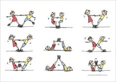Bilderesultater for gymnastics partner balance activities