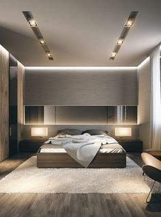 31 elegant and modern master bedroom design ideas 00039 Modern Luxury Bedroom, Luxury Bedroom Design, Bedroom Furniture Design, Home Room Design, Master Bedroom Design, Luxurious Bedrooms, Home Interior Design, Contemporary Bedroom, Modern Bedroom Lighting