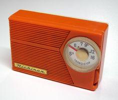 1960's radio.....I had a transistor radio similar to this