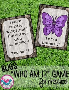 Play this fun interactive game with your students to teach them about 16 different bugs! You can use this a multitude of ways for different grades and abilities! It can be a circle time activity for preschool. Have each child hold a bug card and as you read the clues, they can decide if that's their bug! Or you can use it in an elementary classroom as a reading comprehension literacy center matching activity! Enjoy! ***A black and white version has been added to this activity for your stu...