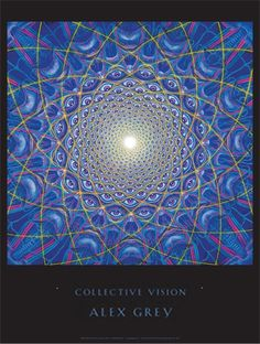 World-renowned visionary artist, Alex Grey, created this powerfully mesmerizing mandala painting. For me, his art touches beyond the physical into the metaphysical, the soul and the spiritual. Alex Grey Paintings, Alex Gray Art, Psy Art, Illustration, Visionary Art, Psychedelic Art, Psychedelic Experience, Virginia Beach, Fractal Art