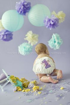 Happy first birthday baby K! Central Massachusetts cake smash portrait photographer. » Heidi Hope Photography