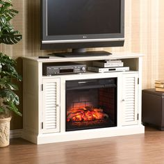 Walmart Wiltshire Fireplace Media Console Antique White