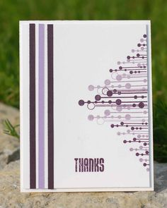 Purple Thanks Card- Retro cool!