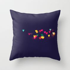 Heart Bokeh III Throw Pillow by Jenny Althouse - $20.00