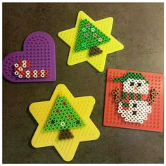 Christmas ornaments perler beads by crochetcreate