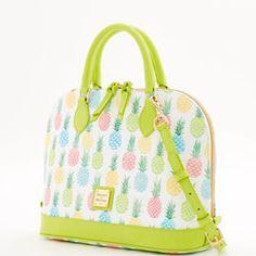 Dooney & Bourke | Spring Hues| Tiki Zip Zip Satchel   Tiki/Pineapple Print | Tiki/Pineapple Print Handbag | Tiki/Pineapple Print Accessory | Tiki/Pineapple Print Accessories | Tiki/Pineapple Print Purse | Fashion | Style