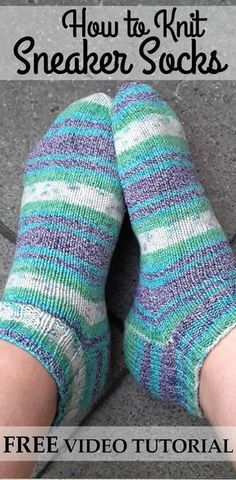 FREE Video Series about How to Knit Quick and Easy Sneaker Socks for Beginners. Perfect for Summer Socks!