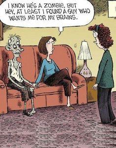 Funny Zombie Boyfriend Cartoon Joke Picture