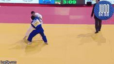 Judo gif Judo-Ichidai — juji-gatame: Ashi-guruma!