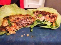 21 Day Fix approved Buffalo Style Turkey Burgers via FitFoodieFam.Blogspot.com