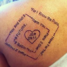 1000 images about tattoo ideas on pinterest i know the plans bible verse tattoos and cross. Black Bedroom Furniture Sets. Home Design Ideas