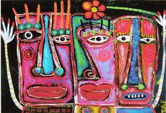 Tracey Ann Finley 5x7 Art Print Raw Brut Island Tiki by Kitty107, $10.00
