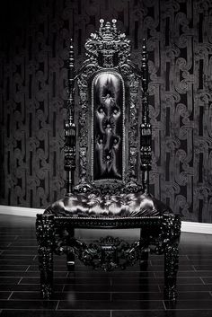 Gothic and regal high-back chair