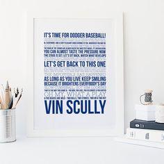 ba9cec54 Dodger Baseball - Vin Scully Quotes - Sports Typography - Major League  Baseball