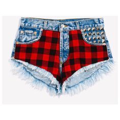 DENIM SHORTS ❤ liked on Polyvore featuring shorts, bottoms, short jean shorts, denim shorts, jean shorts and denim short shorts