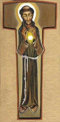 Pax et bonum! Catholic Saints, Patron Saints, Roman Catholic, Francis Of Assisi, St Francis, Ora Et Labora, Writing Icon, St Clare's, Light Of Christ