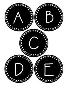 Black And White Word Wall Labels All Capital Letters A Z