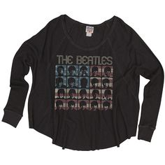 Women's Black The Beatles Thermal Sweater ($70) ❤ liked on Polyvore
