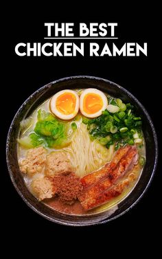 ramen recipe is here~! This creamy chicken ramen, Paitan Tori Ramen is a new trendy style ramen in Japan that you don't want to miss! Creamy chicken ramen is very tricky to make and I will teach you the easiest way to make for you guys! Creamy Chicken Ramen Recipe, Best Ramen Recipe, Authentic Ramen Recipe, Comida Ramen, Ramen Food, Asian Recipes, Healthy Recipes, Ethnic Recipes, Diet Recipes