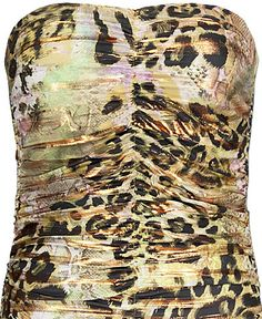 Cheetah and Snakeskin Tube Top