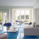 The Basics of Fantastic Blue Living Room Paint Ideas for Your Home : Sweett Frances Living Room Blue Floor Living Room Paint, Living Room Bedroom, Interior Design Living Room, Living Room Designs, Living Room Decor, Living Rooms, Gray Bedroom, Design Bedroom, Apartment Living