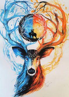 Day and night Art Print by Jonna Lamminaho | Society6