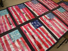 WHAT'S HAPPENING IN THE ART ROOM??: 5th Grade American Flags