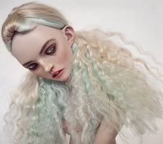 Likes, 25 Comments - Emilie Steele Doll Eyes, Doll Face, Weird Toys, Makeup Tumblr, Cute Monsters, Mermaid Hair, Dark Beauty, Custom Dolls, Ooak Dolls