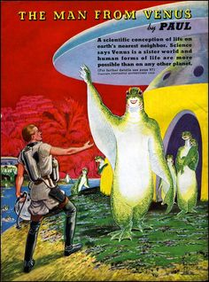 Retro Sci-Fi Magacine cover #50s #60s
