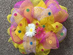 A personal favorite from my Etsy shop https://www.etsy.com/listing/276392382/sale-spring-wreath-deco-mesh-wreath