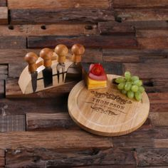 Personalized Cheese Serving Tray Board w/Tools
